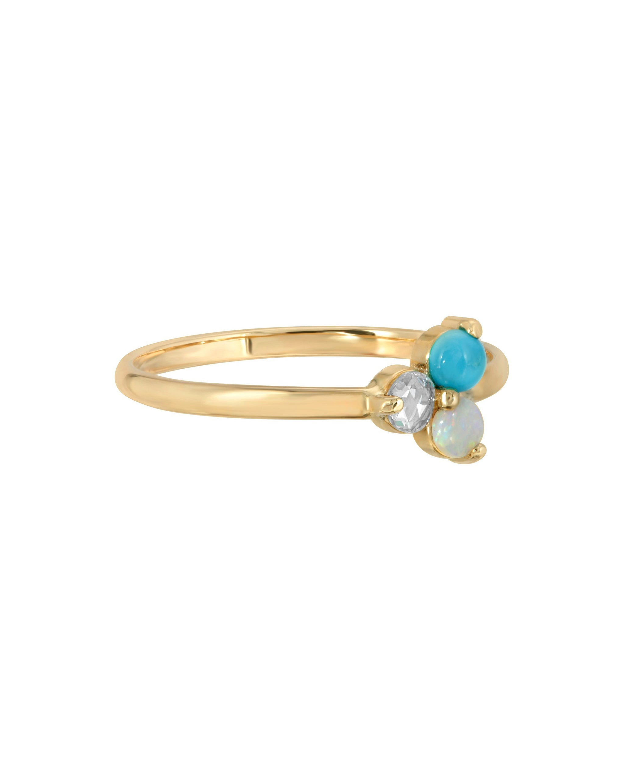 AURA RING - TURQUOISE + TOBACCO