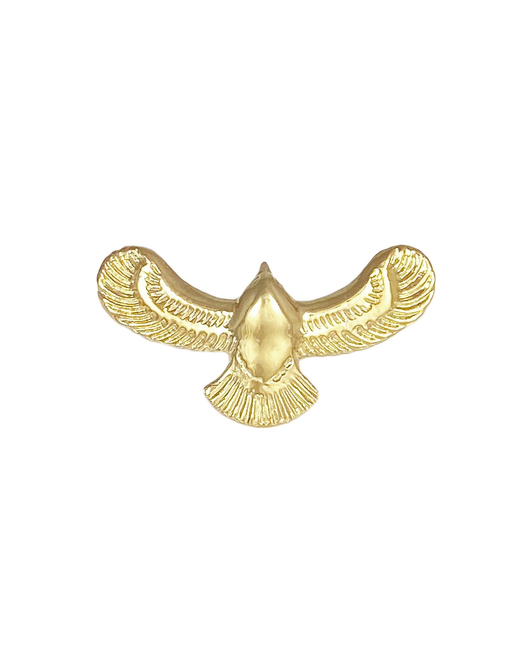 Fleetwood Ring, 14k Gold Vermeil Eagle Ring, Handmade by Turquoise + Tobacco in Los Angeles California