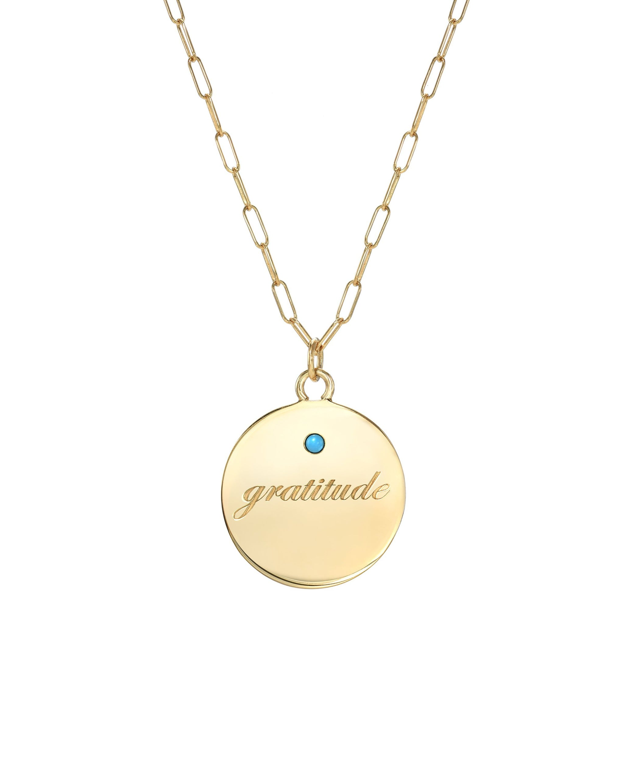 GRATITUDE NECKLACE - TURQUOISE + TOBACCO