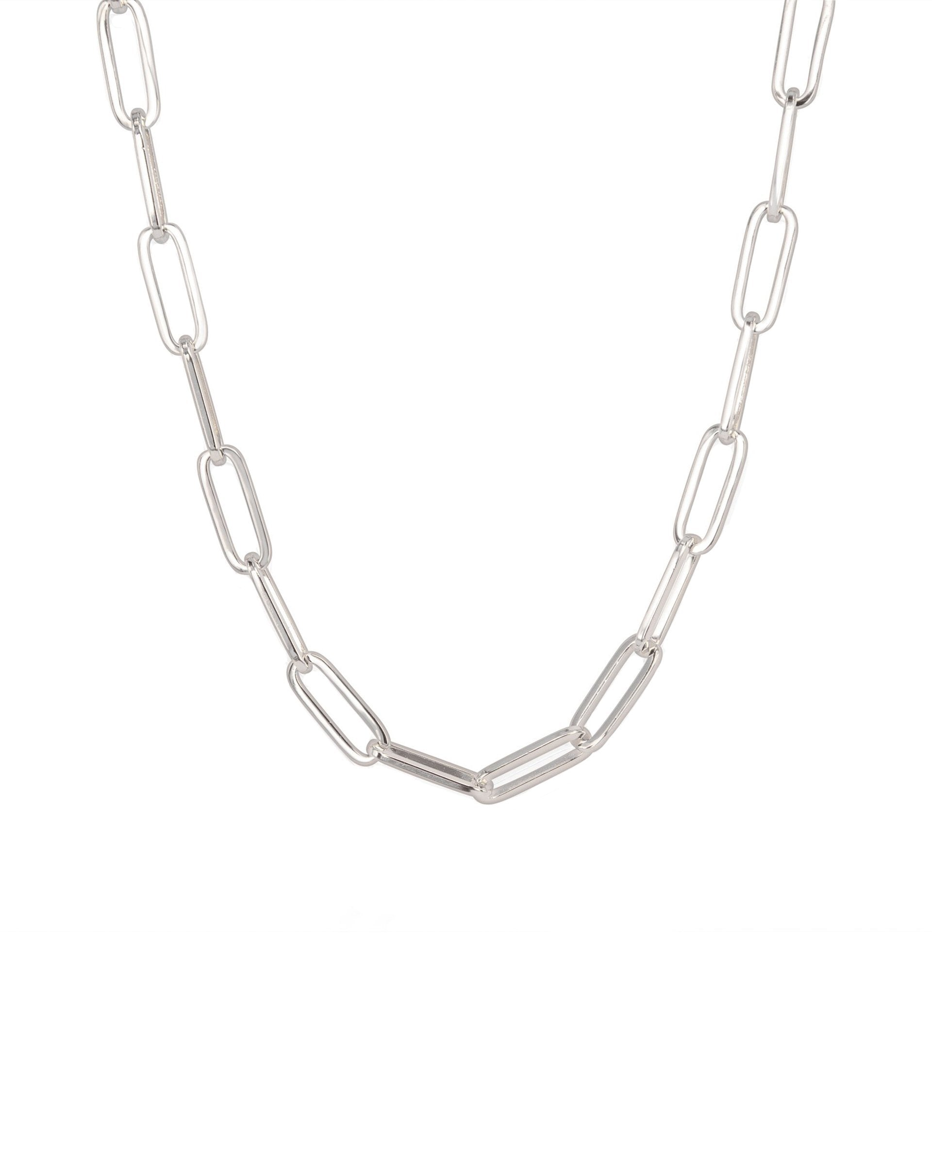 HEAVYWEIGHT PAPERCLIP CHAIN STERLING SILVER