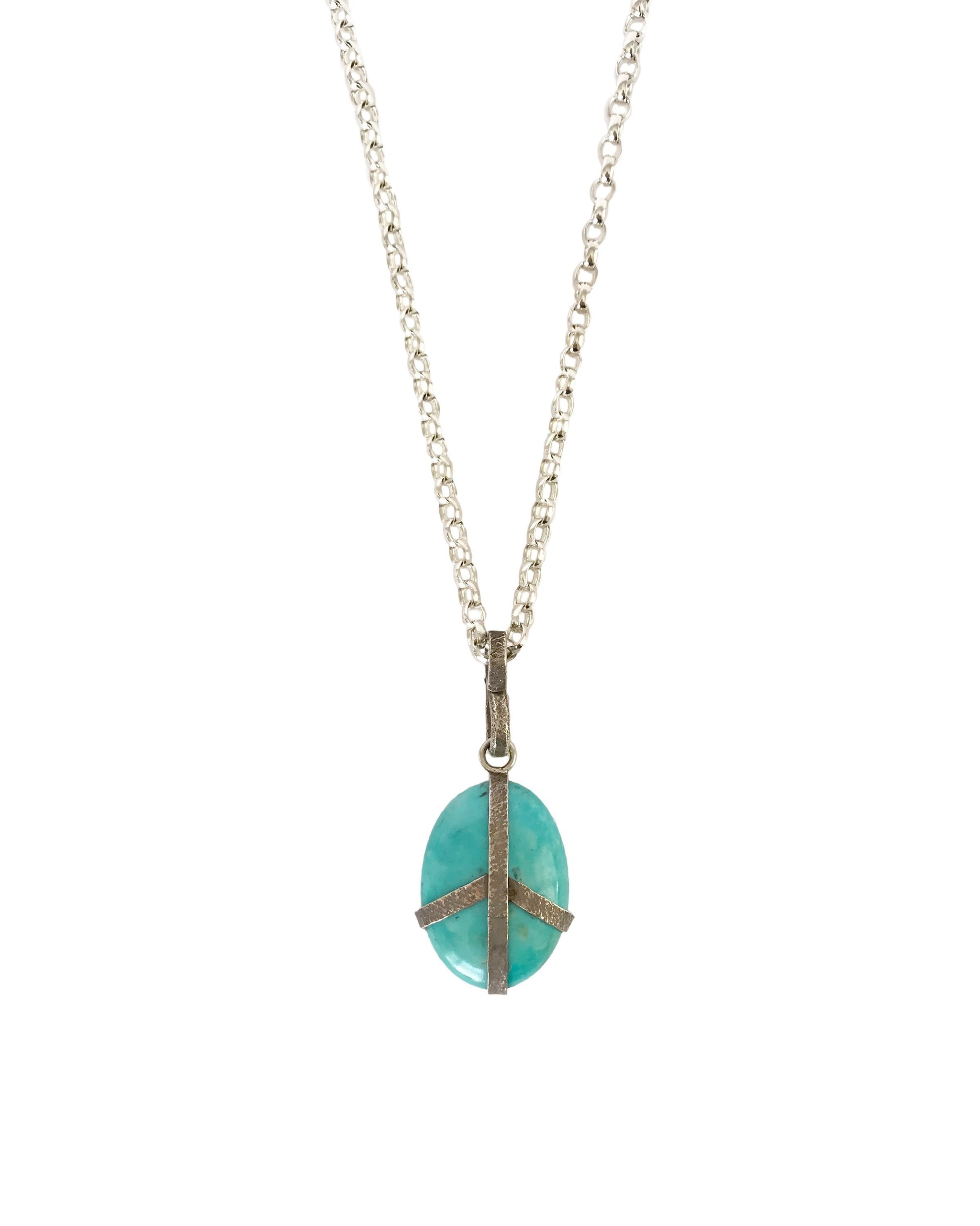 LA PAZ NECKLACE - TURQUOISE + TOBACCO