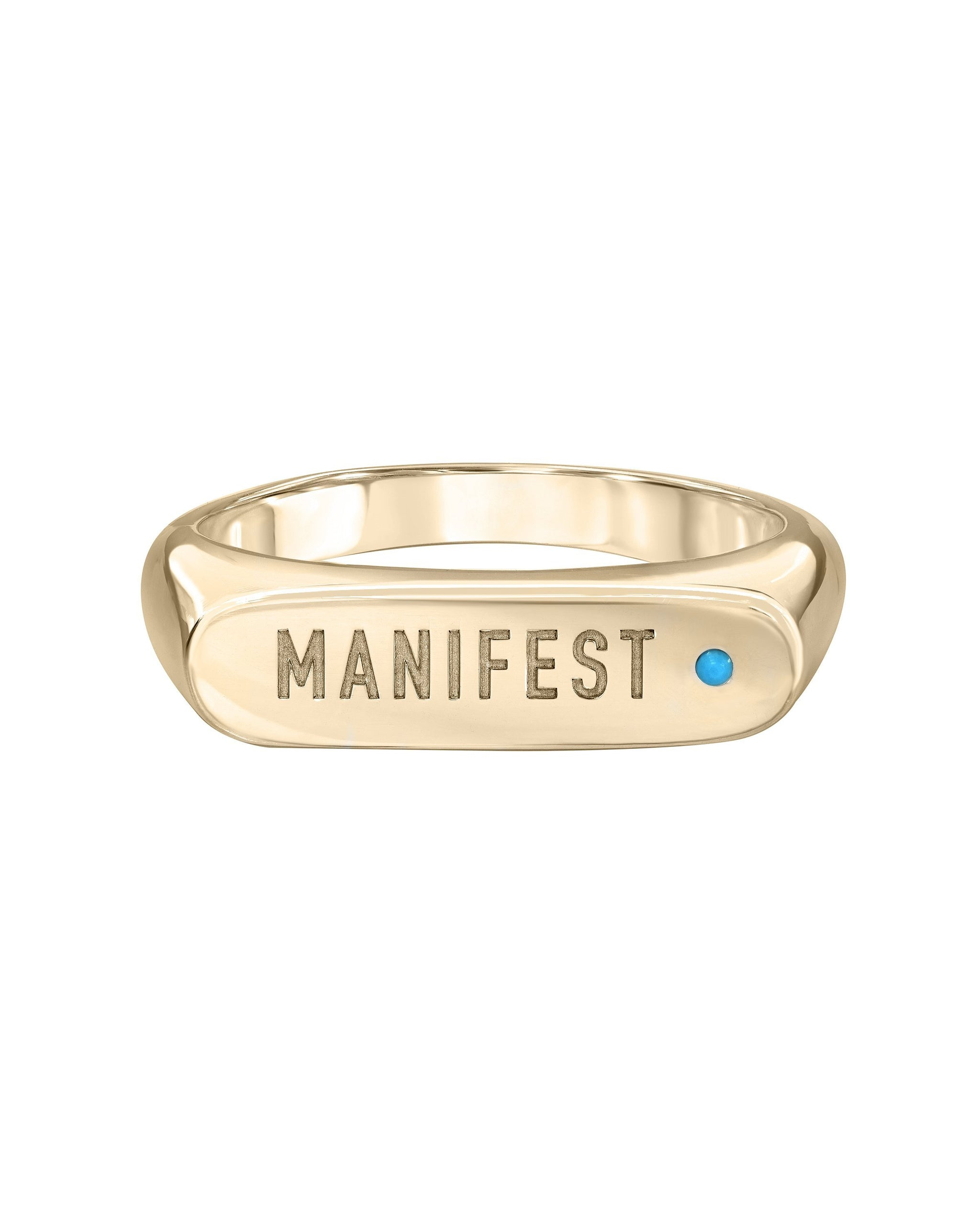 MANIFEST RING - TURQUOISE + TOBACCO
