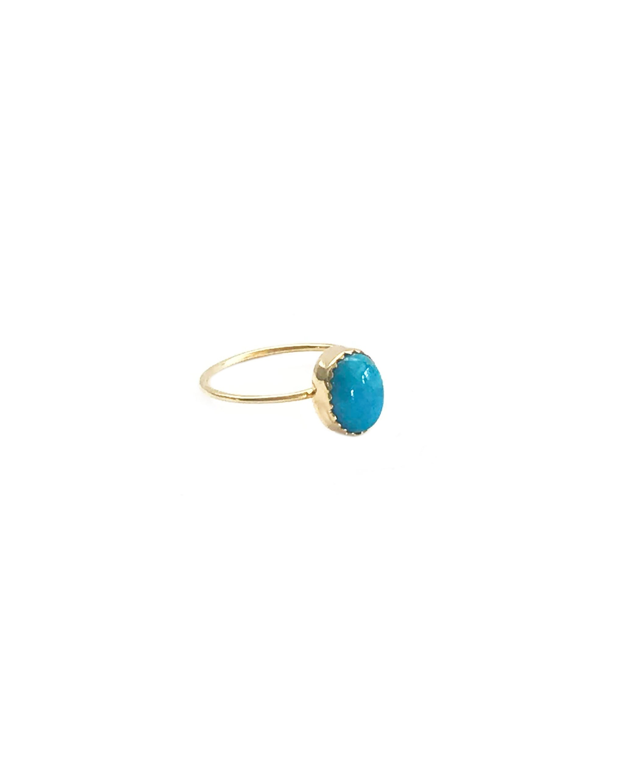 MOON DUST RING - GOLD - TURQUOISE + TOBACCO