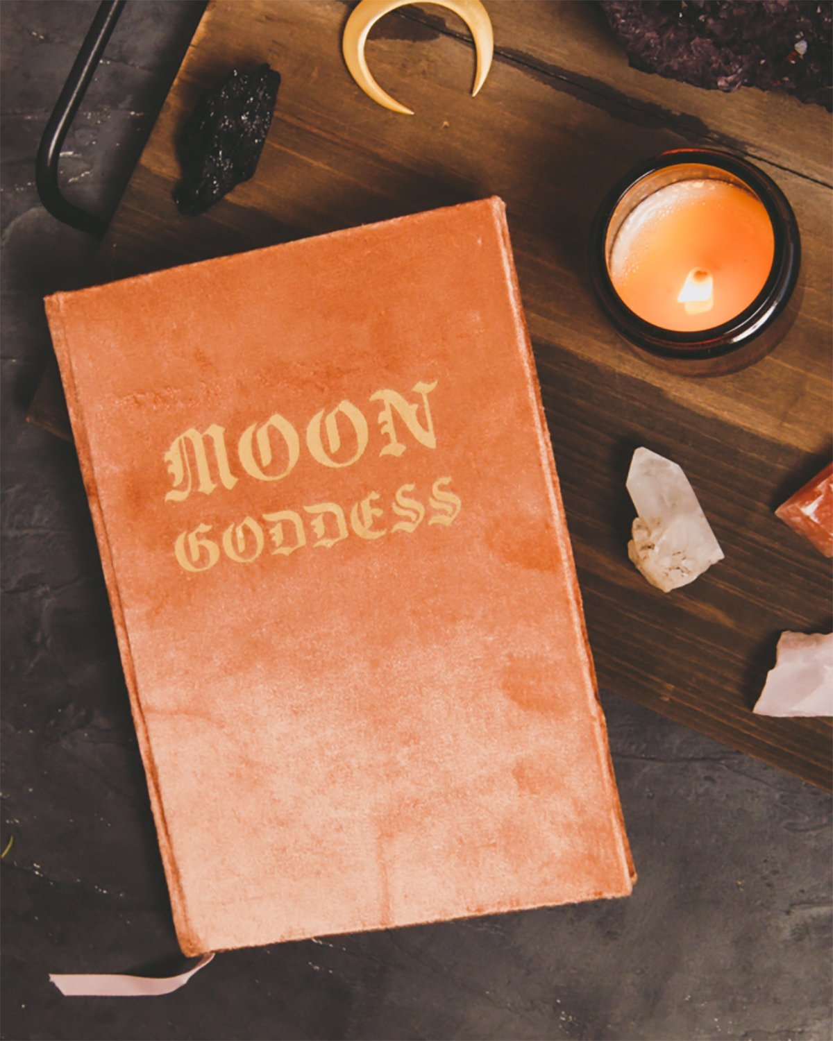 MOON GODDESS JOURNAL - TURQUOISE + TOBACCO