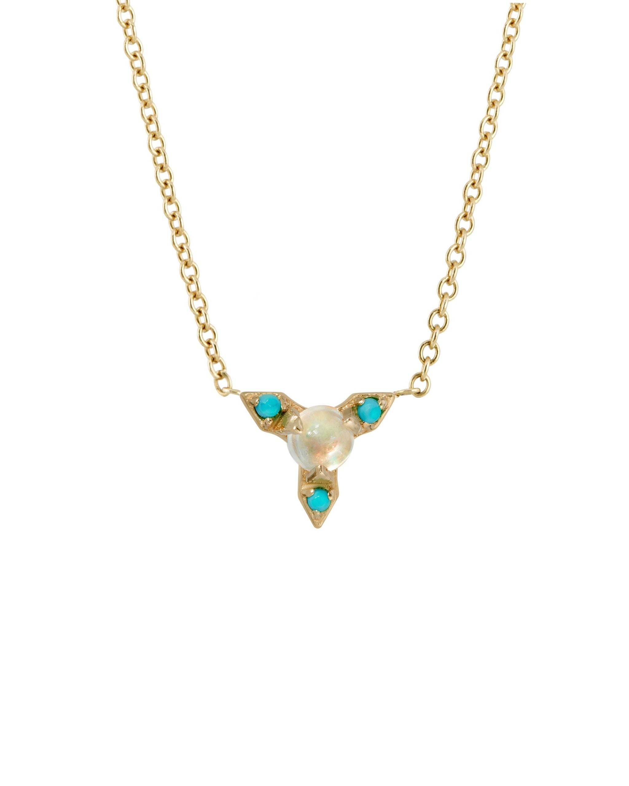 NOVA NECKLACE - TURQUOISE + TOBACCO