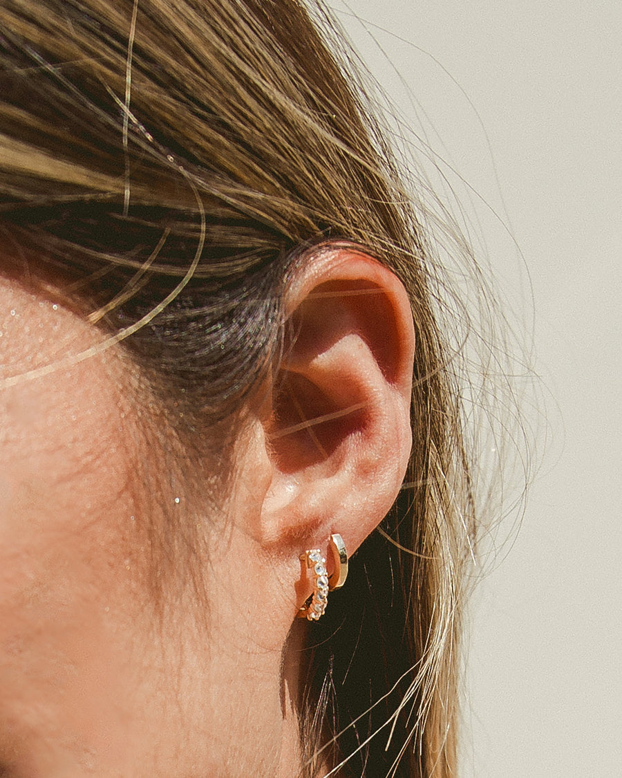 Open Road Gold Vermeil 11mm Huggie Earrings, Handmade by Turquoise + Tobacco in Los Angeles, California