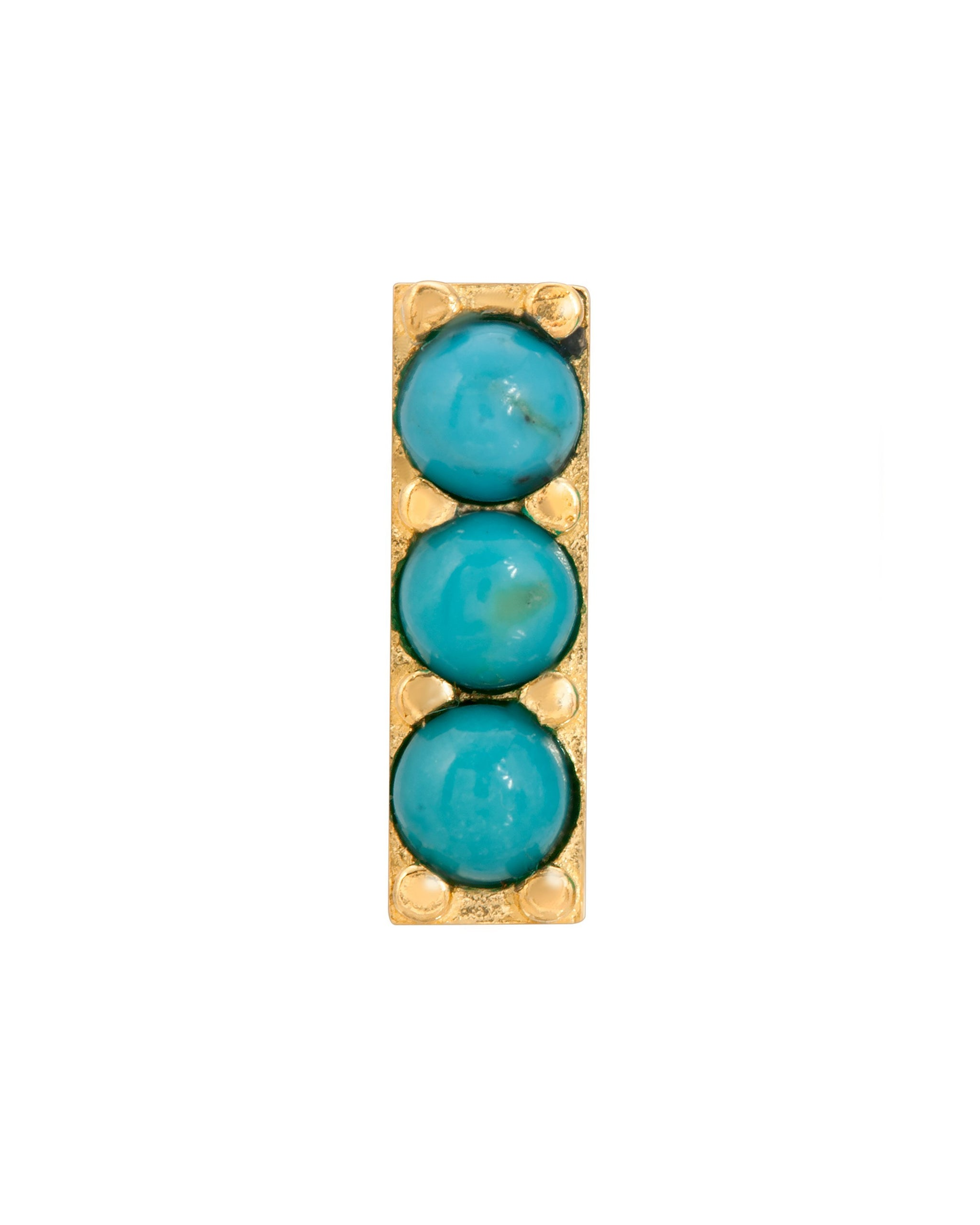 RIVER STUD 11MM - TURQUOISE + TOBACCO