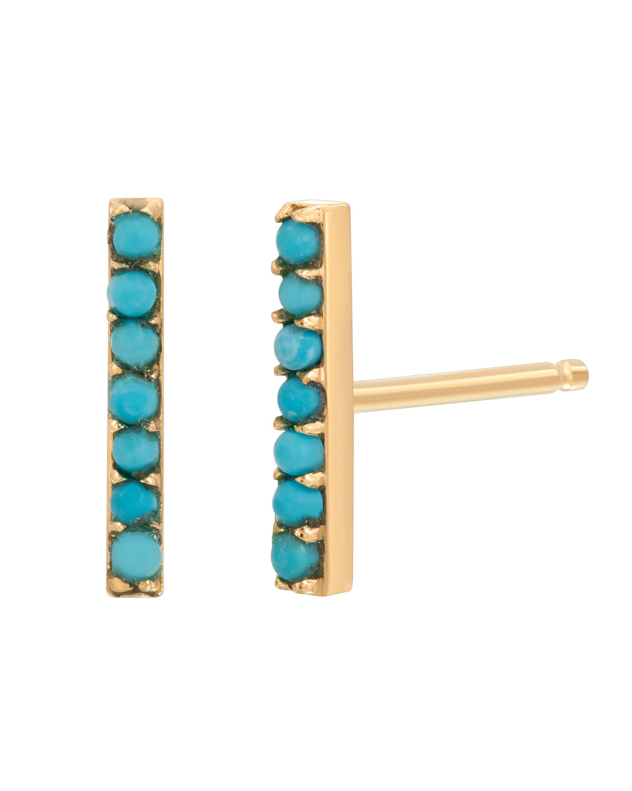 RIVER STUDS 9MM - TURQUOISE + TOBACCO