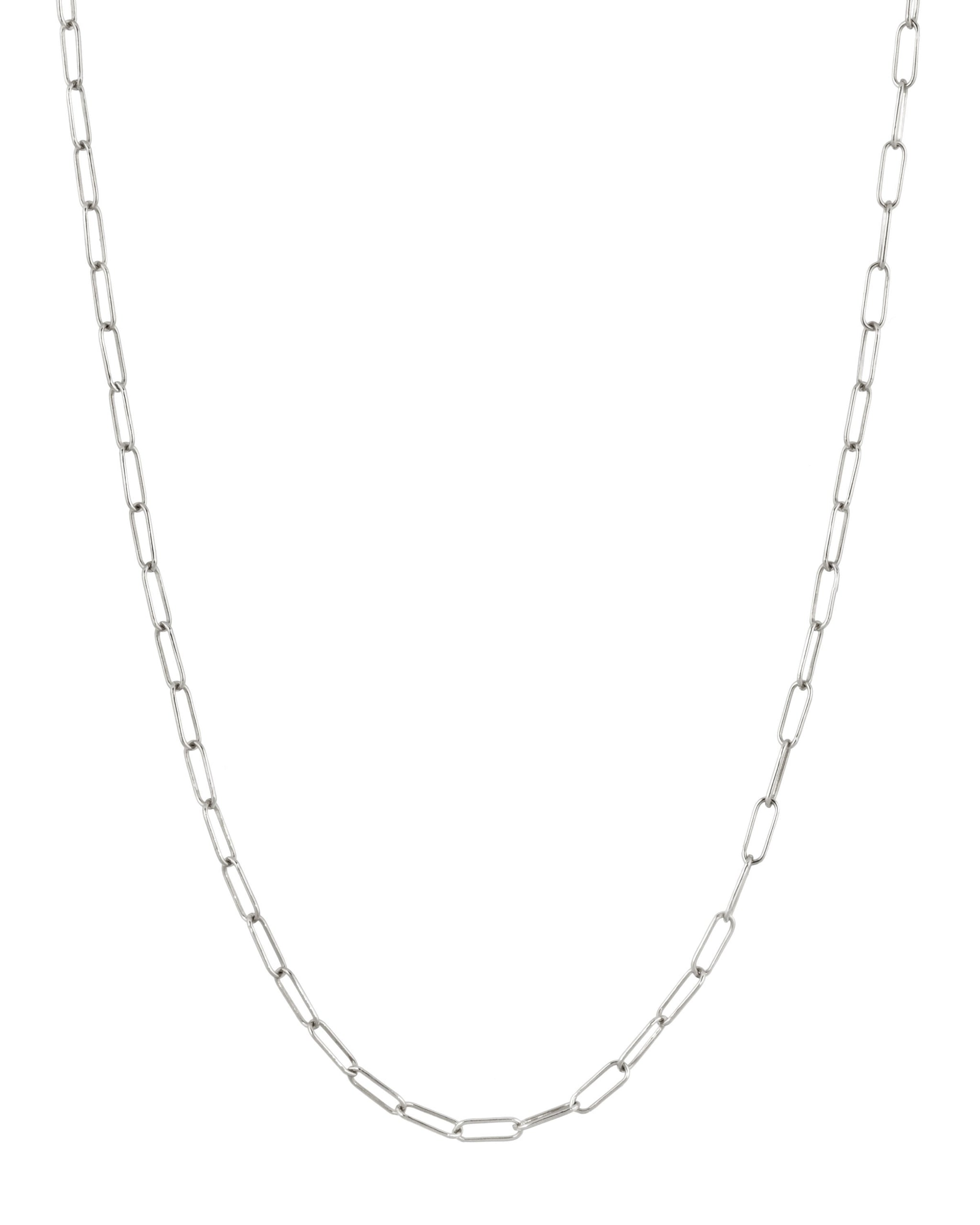 SKINNY PAPERCLIP CHAIN - Sterling Silver