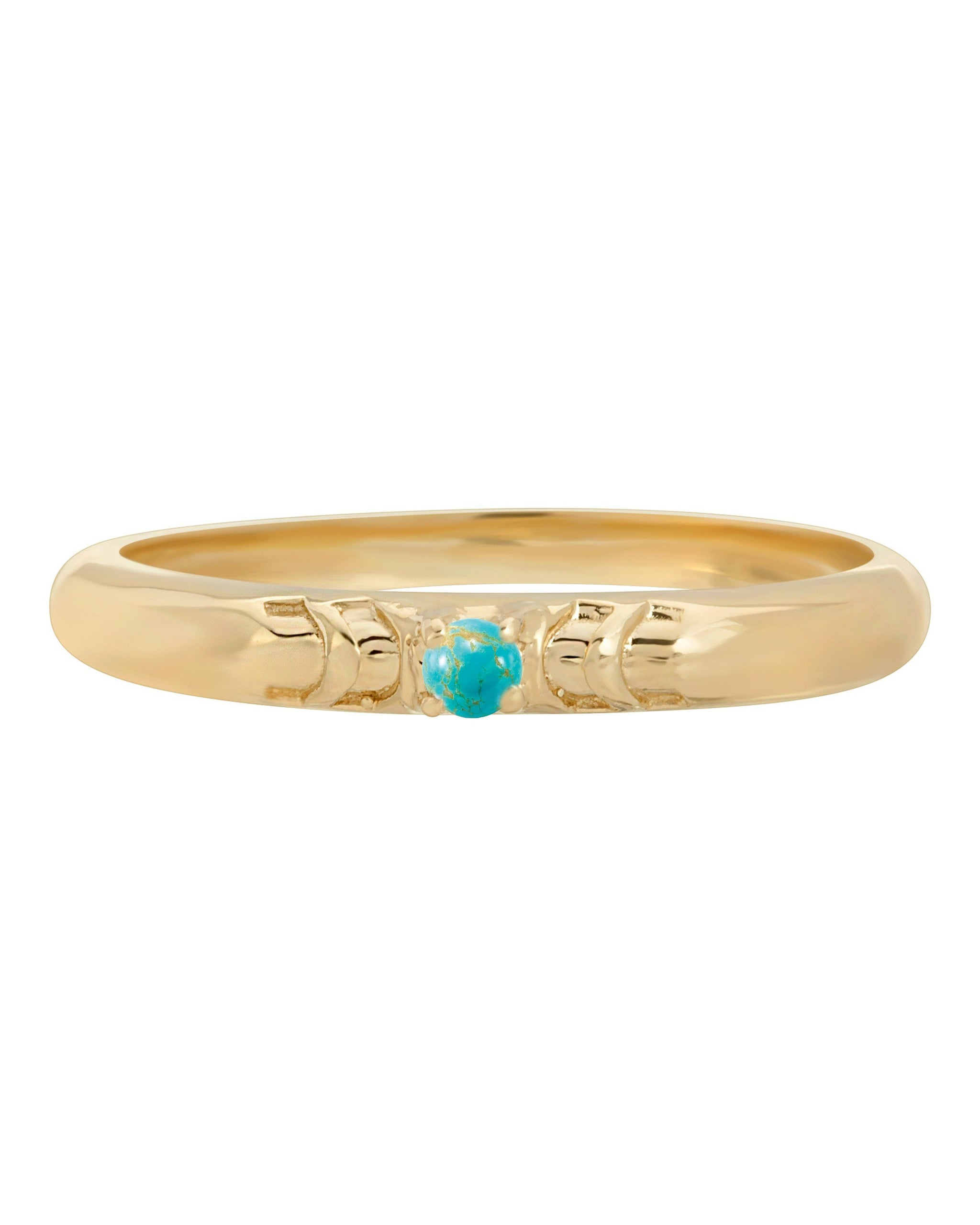 TURQUOISE ECLIPSE RING - TURQUOISE + TOBACCO