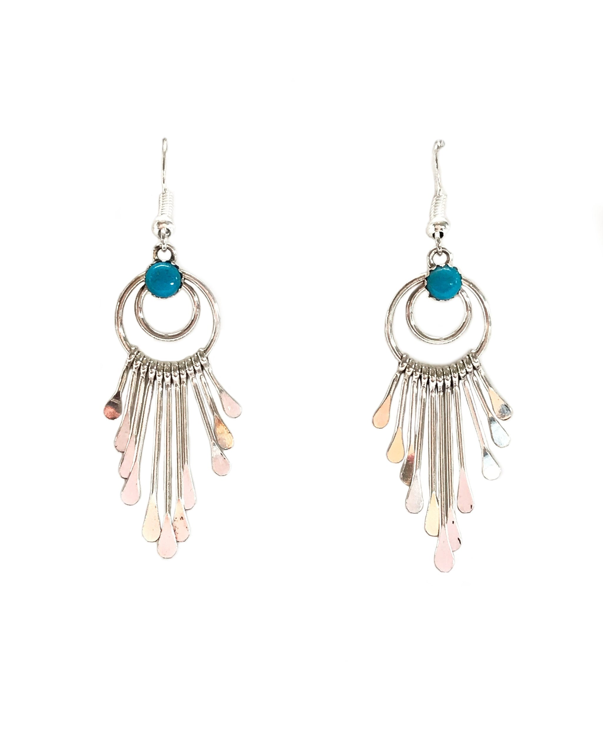 TURQUOISE LUNA EARRINGS - TURQUOISE + TOBACCO