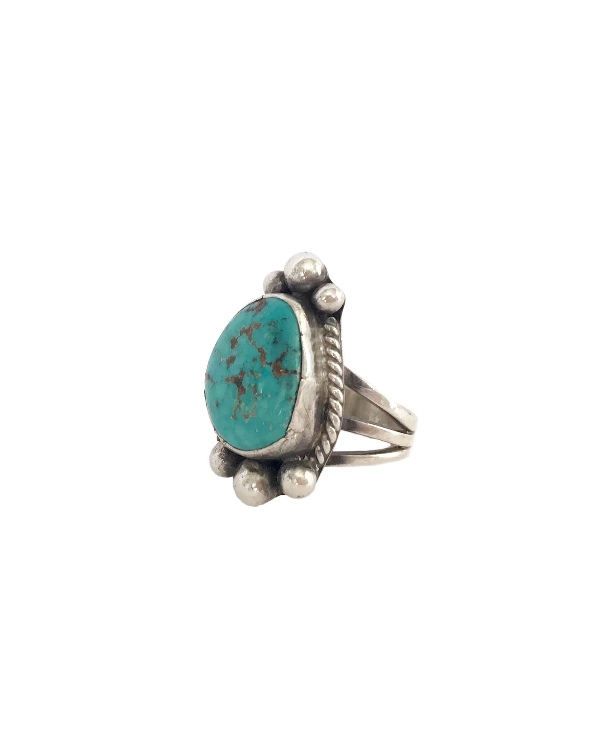 VINTAGE CORTEZ RING - TURQUOISE + TOBACCO