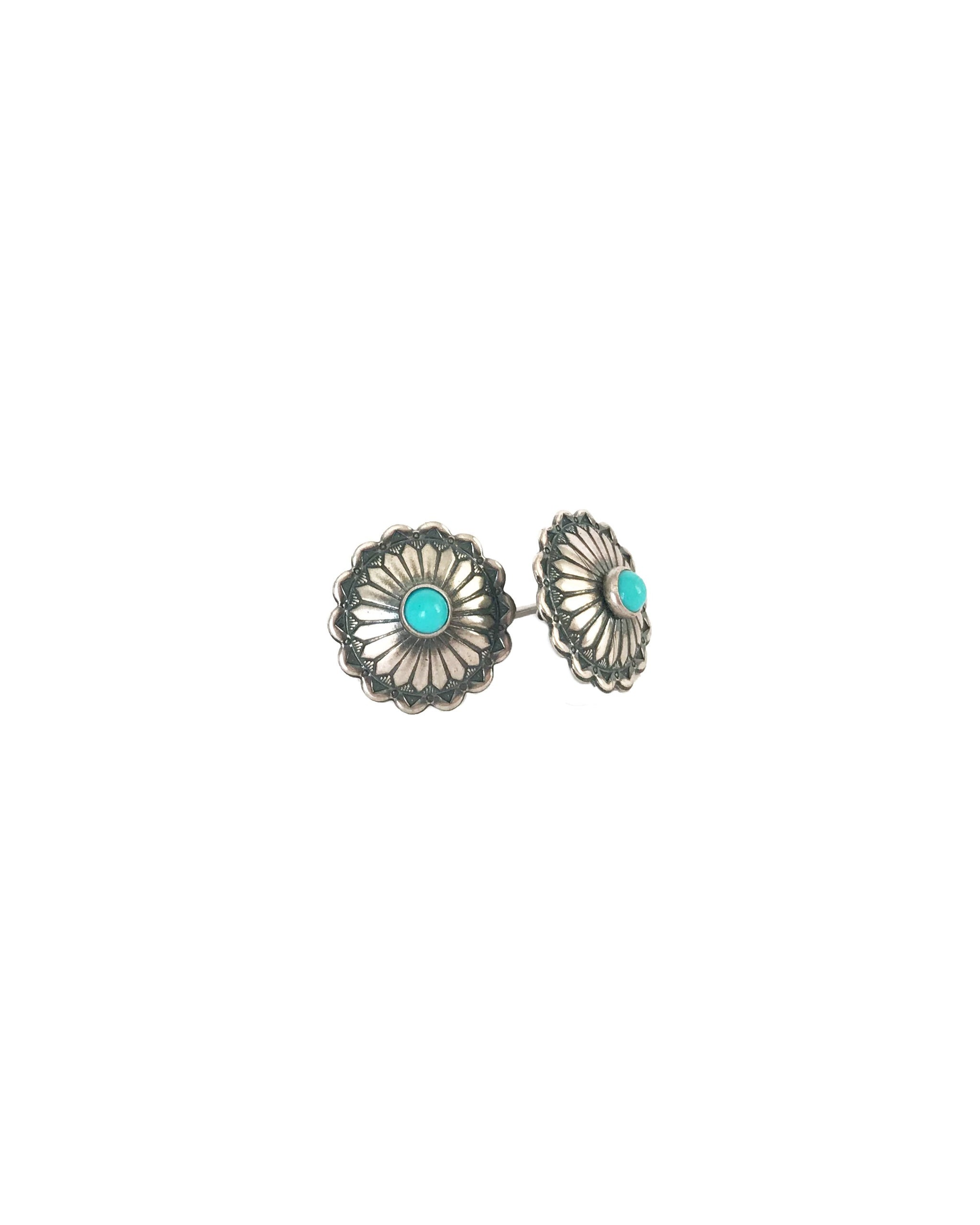 VINTAGE ISABELLA STUDS - TURQUOISE + TOBACCO