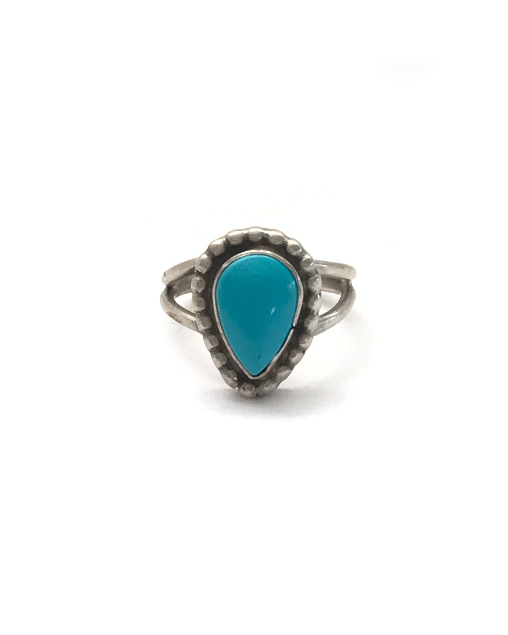 VINTAGE LIA RING - TURQUOISE + TOBACCO