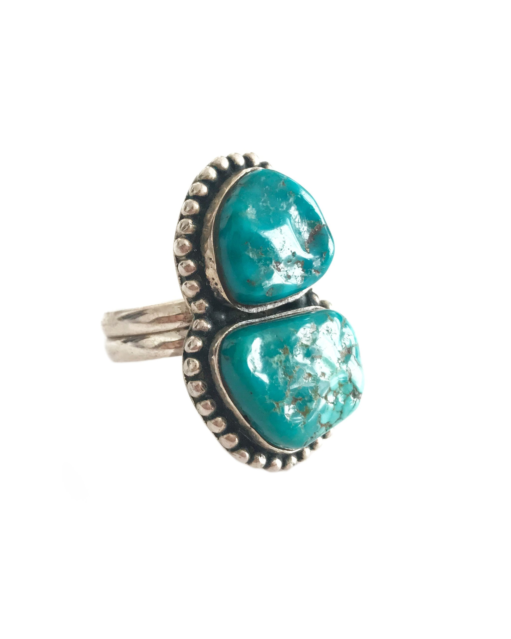 VINTAGE MOUNTAIN RING - TURQUOISE + TOBACCO
