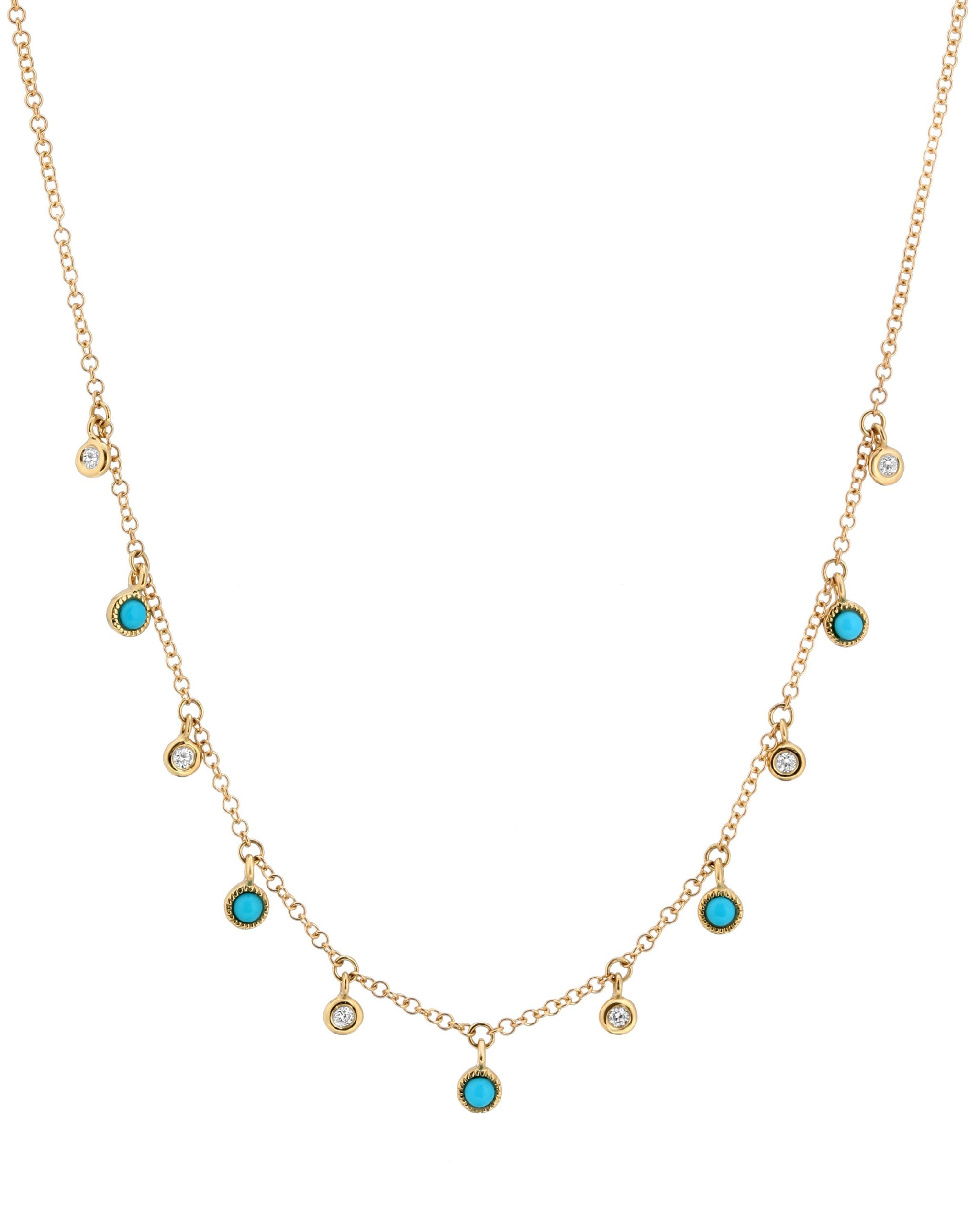 WYLDE NECKLACE - TURQUOISE + TOBACCO