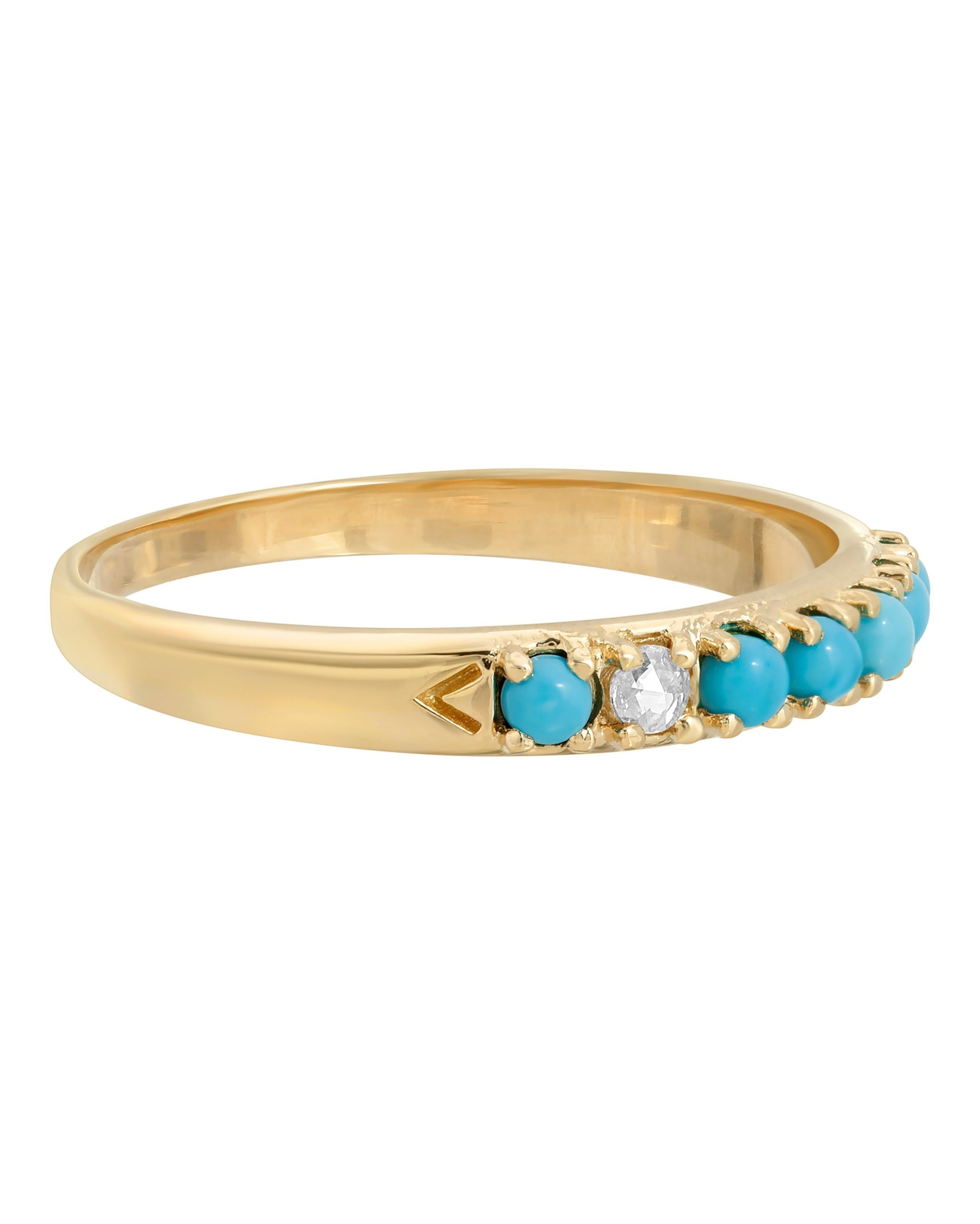 WYLDE RING - TURQUOISE + TOBACCO