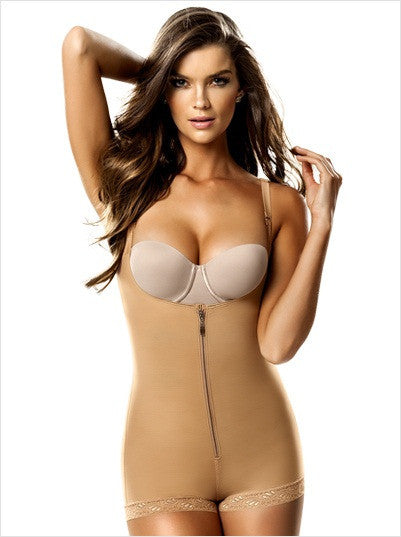 Leonisa Slimmer Braless Body Shaper  in Boyshort 018678N, Best Booty Lifter Butt Shaper Slimming Boyshort Shapewear, BestShapewearCanada