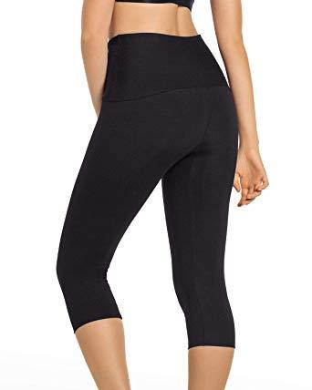 Leonisa ActiveLife High-Waisted Butt Lifter Shaper Capri Legging 196004, Best Post Partum Pregnancy Waist Compression Leggings, BestShapewearCanada