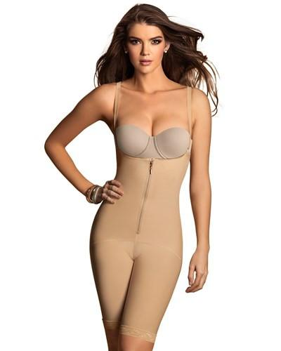 Leonisa Power Slimmed Mid-Thigh Body Shaper 018674N, Best Thigh Waist Slimming Shapewear Canada, BestShapewearCanada
