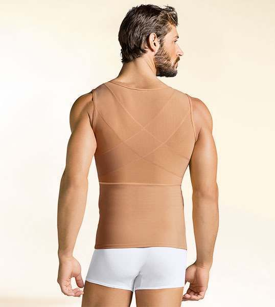 Leo Men's Upper Body Full Compression Back Support Shaper - 035000, men's back support, BestShapewearCanada