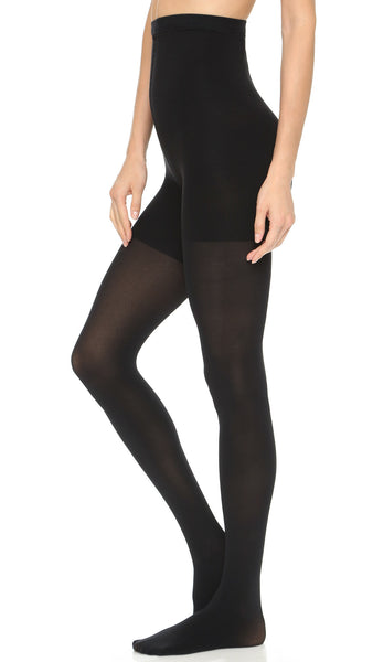 Spanx High Waisted Luxe Opaque Tights, Best Post Partum Pregnancy Waist Compression Shapwear Stockings, BestShapewearCanada