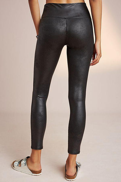 Spanx Post Pregnancy Slimming Faux Leather Leggings Black, shapewear, BestShapewearCanada