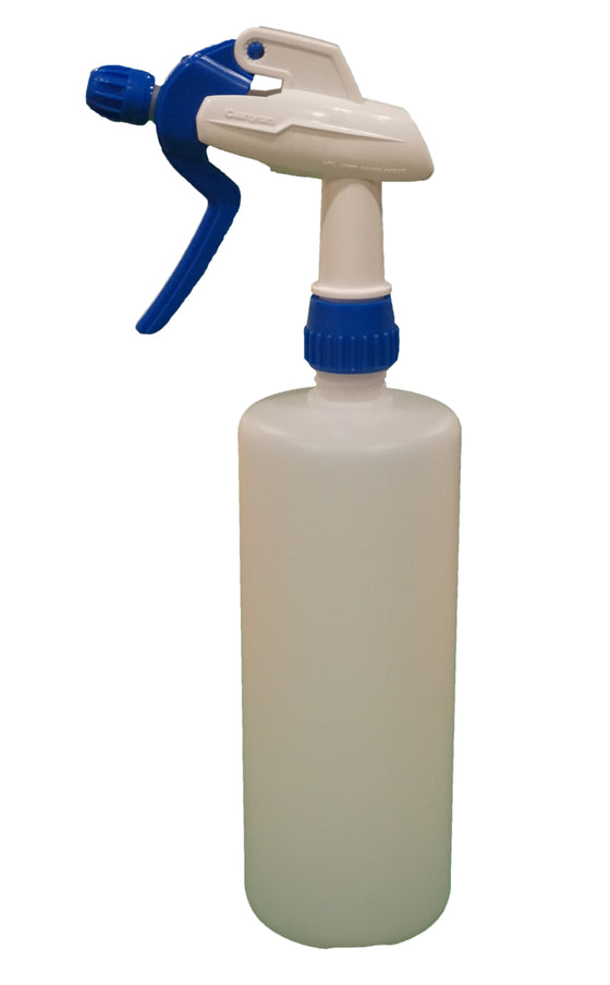 1 Litre Spray Bottle and Blue Trigger