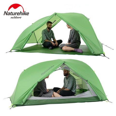 NatureHike 20D Silicone Fabric Waterproof Double-Layer 2 Person 4 Season Aluminum Rod Outdoor Camping Tent