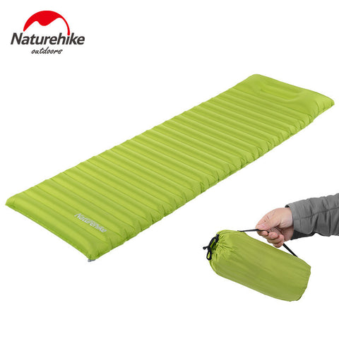NH innovative sleeping pad fast filling air bag super light inflatable  mattress   with pillow also for rescue life cusion 550g