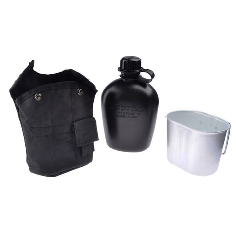 3PCS/Set Portable Canteen Tactical Water Bottle Army Cup Thermal Insulation Survival Kettle Military EDC Tool Kit Camping Hiking