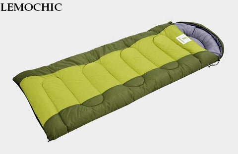 Four seasons outdoor sleeping bag adult Thermal Autumn Winter Envelope Hooded Travel Camping Water Resistant Thick Sleeping Bag
