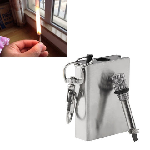 1pc Emergency Fire Starter Flint Match Lighter Metal Outdoor Camping Hiking Instant Survival Tool Safety Durable hot