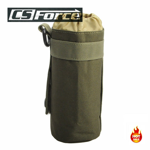 Tactical Military Molle System Water Bottle Bag Outdoor Sports Camping Hiking Travel Kits Survival Kettle Pouch Holder Olive