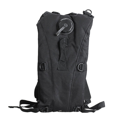 Portable Water Hydration Bag/Backpack - 2.5L Capacity - For Survival, Outdoor, Camping, and More! - Black