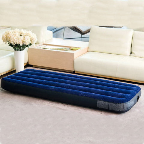 2016 New arrival high quality single person size 99cmx191cmx22cm air bed inflatable mat with hand pump