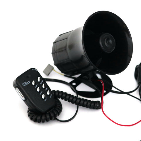 Motorcycle Car Auto Loud Air Horn 125dB Siren Sound Speaker Megaphone Alarm Van Truck Boat 30w 12v Six-tone Modification Parts