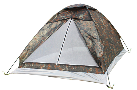 2 Person Camouflage All-Season Tent With Rain-Proof Cover