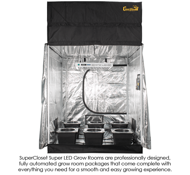 SuperRoom 5′ x 5′ LED Grow Room