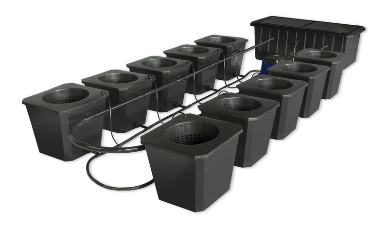24-Site Bubble Flow Bucket Grow System