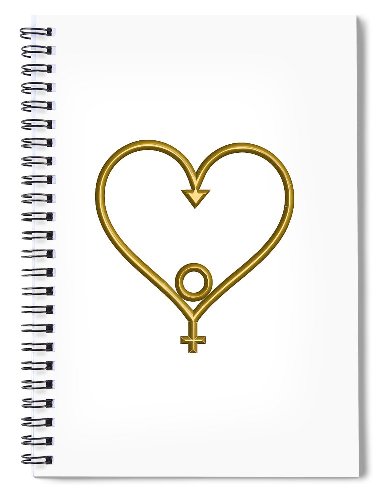 Spiral Journal Notebook • Heart of Hope for the Age of Aquarius - •
