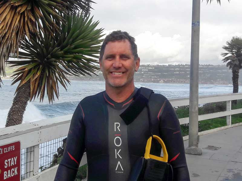 ic:Mark Drewelow - with the instantly recognisable grin of the certifiable bodysurfer