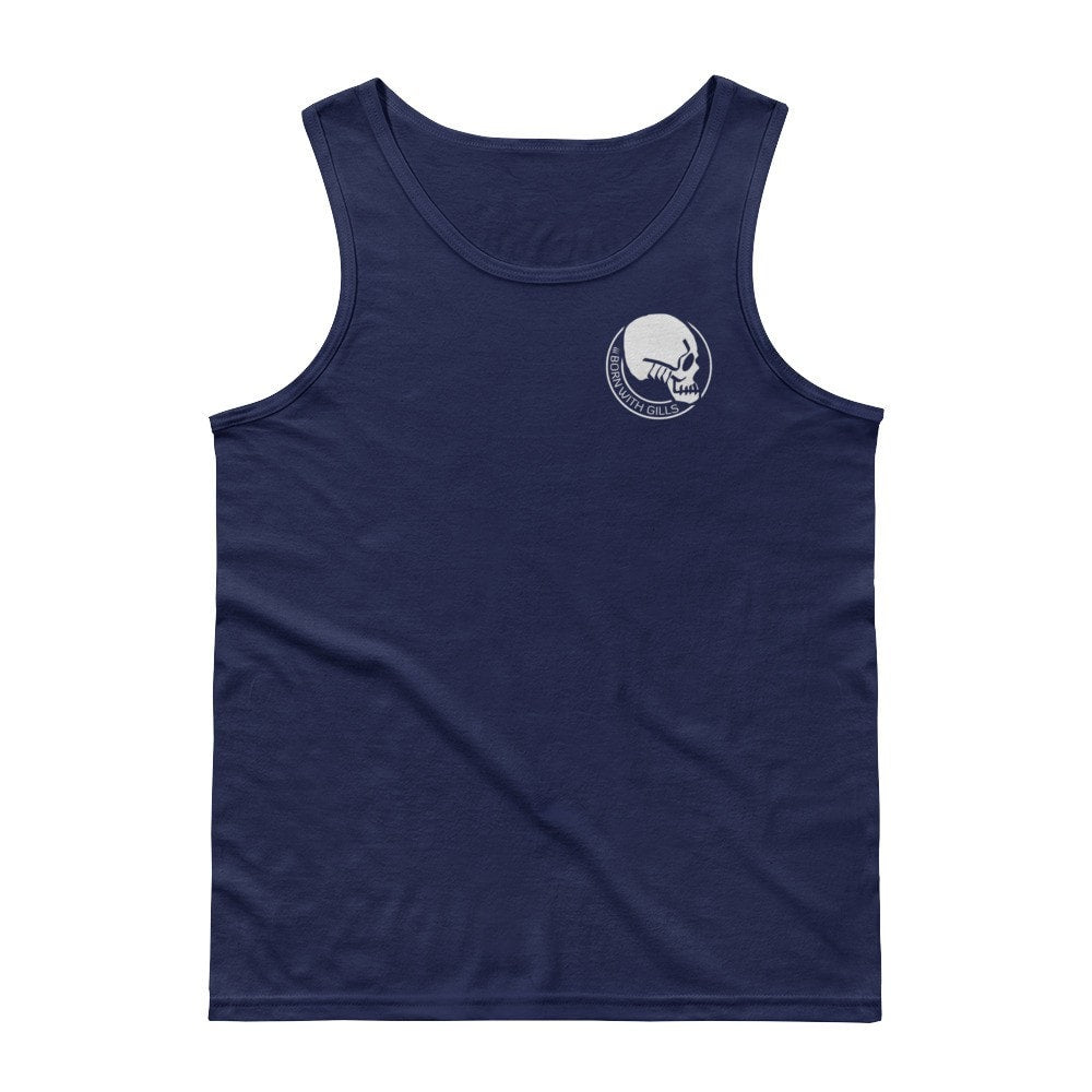Men's Gilled Skull Logo Tank