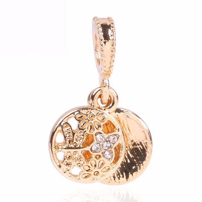 Butterfly, Dangle, Rose Gold Charm
