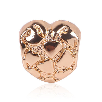 Abstract Heart, Rose Gold Charm