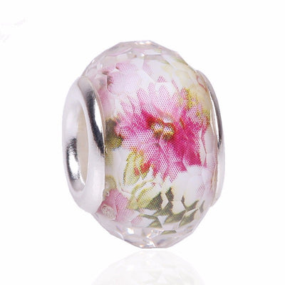 Floral, Pink, Charm, Glass