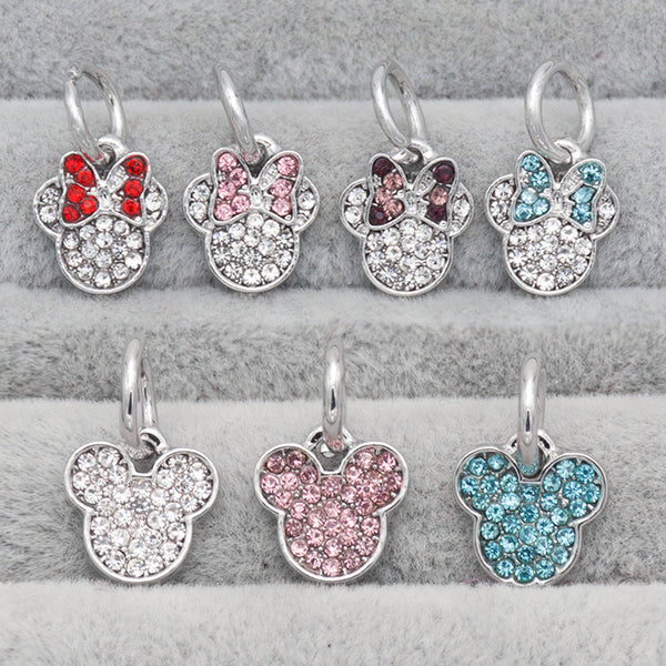 Disney, Micky, Minnie, Dangle, Charm
