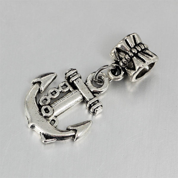 Anchor, Dangle, Charm, Silver