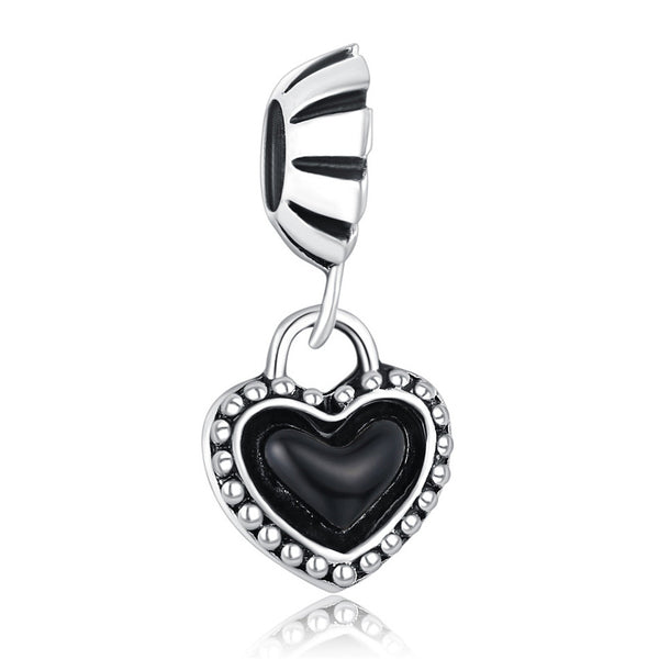Black Enamel Heart, Charm