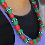 One of kind hand painted gum nut necklace - various colours available.